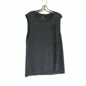 Soulcycle Gray With Black Write Out Tank Top